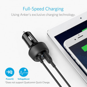Anker PowerDrive 2 Elite 24W 4.8A 2 Port Lightning Car Charger
