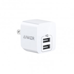 Anker PowerPort Mini Dual Port Wall Charger 12W