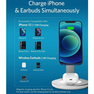 Anker PowerWave Magnetic 2-in-1 Stand with USB-C Cable 4ft/1.2M