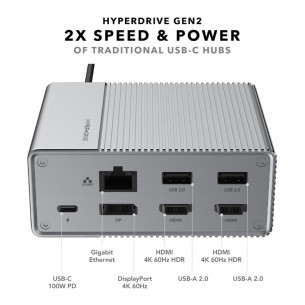 HyperDrive GEN 2 USB-C Hub 12 in 1