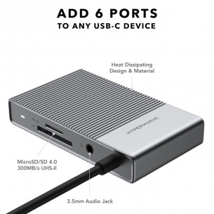 HyperDrive GEN 2 USB-C Hub 6 in 1