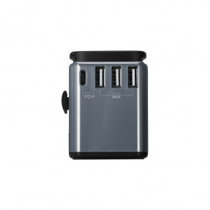 Momax 1-World AC Travel Adapter (Type-C PD + 3 USB)