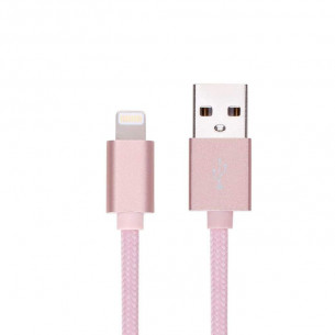Momax Elite Link Lightning To USB Cable Rose Gold 2M