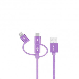 Momax One Link 3-in-1 Fast Charge Sync USB Cable 0.3M