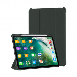 Xundd Leather Case with Apple Pencil Holder for iPad Gen 7/8 - Green