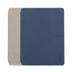 Momax Flip Cover Case with Apple Pencil 1 Holder - iPad 2019 - Dark Blue
