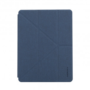 Momax Flip Cover Case with Apple Pencil 1 Holder - iPad Air 10.5″ 2019 - Dark Blue